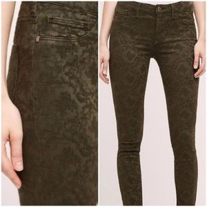 ANTHRO | Pilcro Patterned Serif Skinny Jeans 29